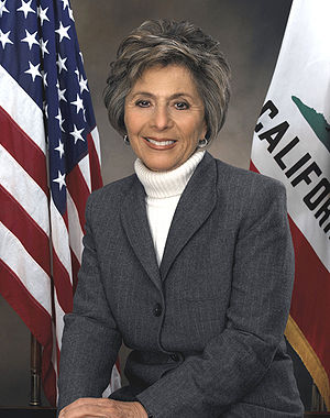 Barbara Boxer, member of the United States Senate
