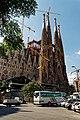 Barcelona - Carrer de Mallorca - View West on La Sagrada Família - Nativity façade.jpg