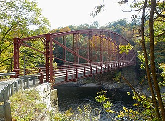National Register of Historic Places listings in Franklin County, Massachusetts - Image: Bardwell's Ferry Bridge viewed from north in 2014