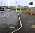 Bargoed Interchange electronic display board (geograph 5027682).jpg