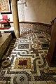 Bari, san nicola, interno, cripta, mosaico pavimentale cosmatesco 02.jpg