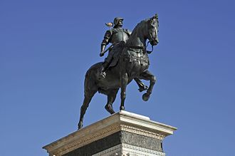 Equestrian statue of Bartolomeo Colleoni - The statue today.