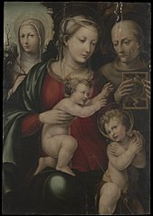 Virgin and Child with Saints John, Catherine and Bernardino of Siena