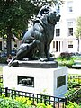 Barye statue, Mount Vernon Place, Baltimore, MD.jpg