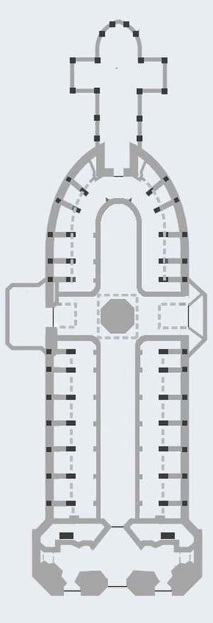 Basílica del Voto Nacional - Architectural plan of the Basílica del Voto Nacional of Quito.