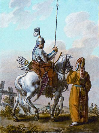 Turkic peoples - Bashkirs, painting from 1812, Paris