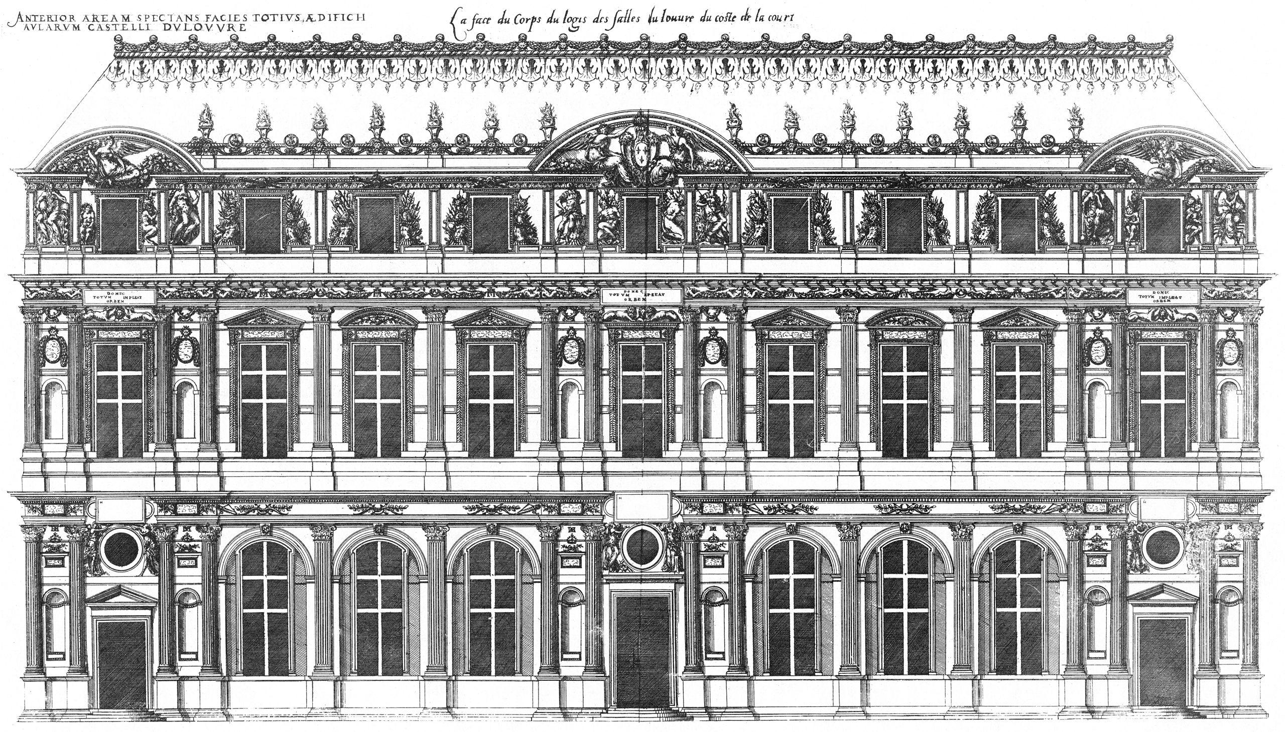 Bastiments v1 (Gregg 1972 p20) - Louvre west wing court facade.jpg