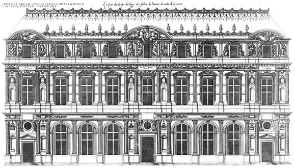Superbe Court Facade Of The Lescot Wing, Engraved By Jacques Androuet Du Cerceau,  1576