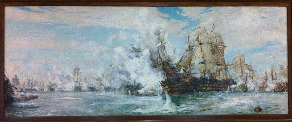 Battle Of Trafalgar By William Lionel Wyllie, Juno Tower, CFB Halifax Nova Scotia