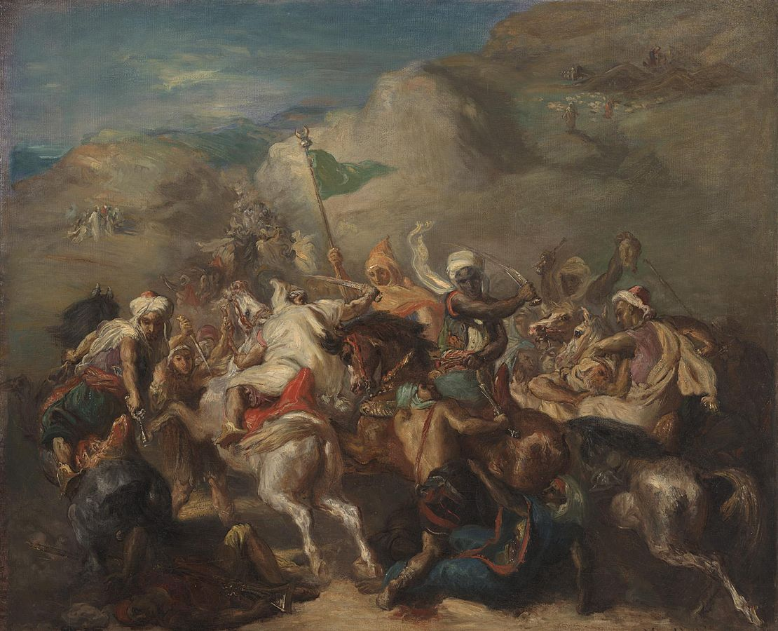 Battle of Arab Horsemen Around a Standard