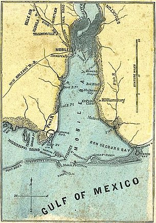 Battle of Mobile Bay - Wikipedia on battle of games, west florida maps, battle of social media, american revolutionary war maps, valley forge maps,