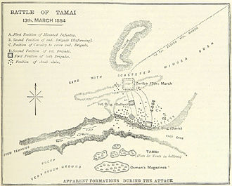 Battle of Tamai - A British map of the battle