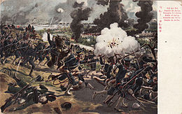 Description de l'image Battle of Yalu old postcard.jpg.