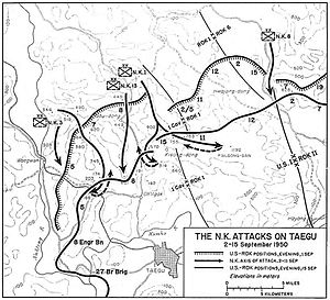 Battle of Ka-san - North Korean attacks on Taegu, September 1950.