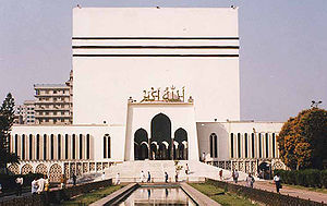 Baitul Mukarram National Mosque of Bangladesh in Dhaka, was built in 1962.