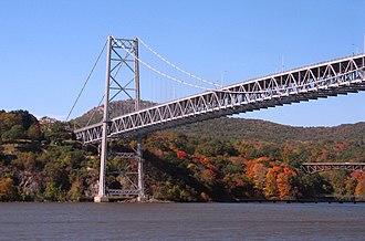 Bear Mountain Bridge - Image: Bear Mountain Bridge from below