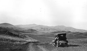 Bears Paw Mountains - Bearpaw Mountains. View south near Clear Creek, Blaine County, Montana. July 31, 1920.