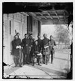 Beaufort, S.C. Gen. Isaac I. Stevens (seated) and staff on porch of a house LOC cwpb.00755.tif