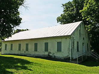 Johnsville, Maryland - The 1832 meeting house of the Beaver Dam German Baptist Congregation (Church of the Brethren) near Johnsville, Maryland.