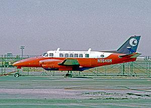 Cascade Airways - Cascade Airways Beechcraft 99 Airliner at Los Angeles International Airport in 1973