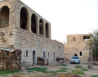 """Harel, Israel - Beit-Ha'Kshatot (""""House of the Arches"""") where Meir Tobianski was executed (1948)"""