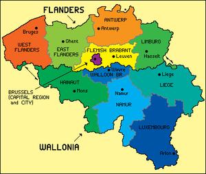 Belgium régiói és tartományai