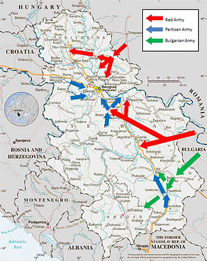 Belgrade Offensive - Map of the offensive.