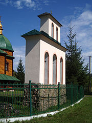Bell tower of Ascension Church, Bortkiv (02).jpg