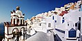 Bells of the Blue domed Church (dedicated to St. Spirou) in Firostefani, Santorini island (Thira), Greece.jpg