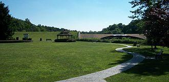 Watchung, New Jersey - Park below the dam.