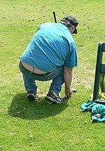 woman plumber crack