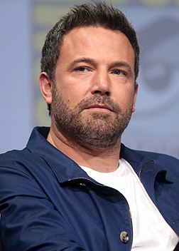 A photograph of Ben Affleck attending the San Diego Comic-Con International in 2017
