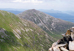 Ben Tee - Ben Tee seen from the cairn on Sròn a' Choire Ghairbh, 3 km to the SW.