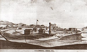 Benicia Arsenal - The arsenal in 1878
