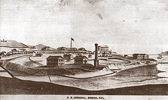 Benicia Arsenal - The arsenal in 1878