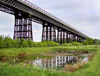 Bennerley Viaduct - The Bennerley Viaduct in 2010