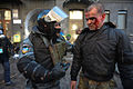 Berkut officer addressing a protester during clashes in Kyiv, Ukraine. Events of February 18, 2014.jpg