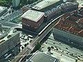 Berlín, Mitte, pohled na Grunerstrasse z televizní věže (Fernseherturm).jpg