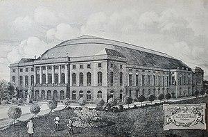 Berlin Sportpalast - Postcard depiction of new Sportpalast, 1910.