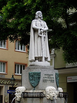 Klagenfurt - Duke Bernhard of Spanheim, the founder of the City