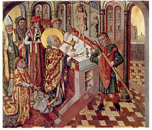 Mass of Saint Gregory - Image: Bernt Notke Gregorsmesse Arhus