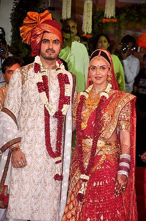 Choora -  Esha Deol wearing choora (chooda) at her wedding
