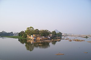 Bhavani River - The confluence of the Bhavani and Kaveri rivers at Bhavani