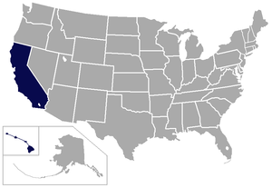 Big West Conference - Image: Big West USA states