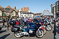 Bikes and bikers, Poole Quay, Dorset - geograph.org.uk - 1216171.jpg