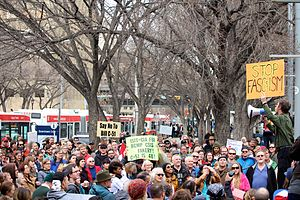 Anti-terrorism Act, 2015 - Anti Bill C-51 rally in Calgary