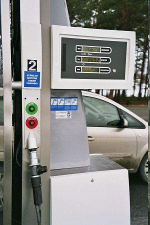 English: Biogas pump station for vehicles