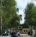 Birkenweg mit Birken (Wo gibt es das sonst noch^ Ich habe z. B. noch niemals eine Adenauerstraße mit einem Adenauer gesehen.) - panoramio.jpg