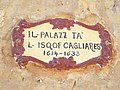 Bishop Cagliares sign - Citadel, Gozo.JPG