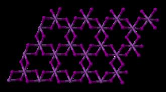 Iron(III) bromide - Image: Bismuth triiodide layer 3D balls